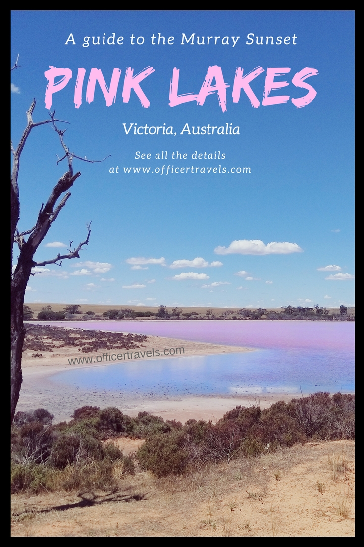 Pink lakes in Victoria