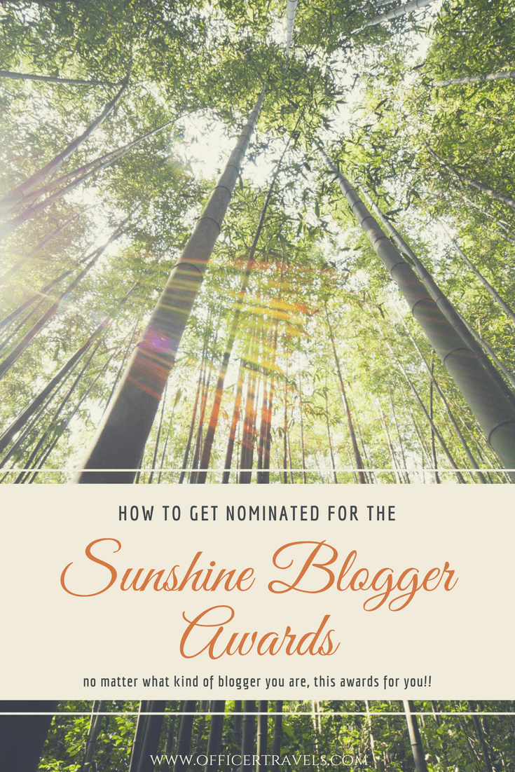 Learn how to get #nominated for the Sunshine Blogger Award! A year round #award for #inspirational and #creative #bloggers, no matter what your #niche! | #sunshinebloggeraward #inspiringothers #travelblogger #writingaward #awardwinning