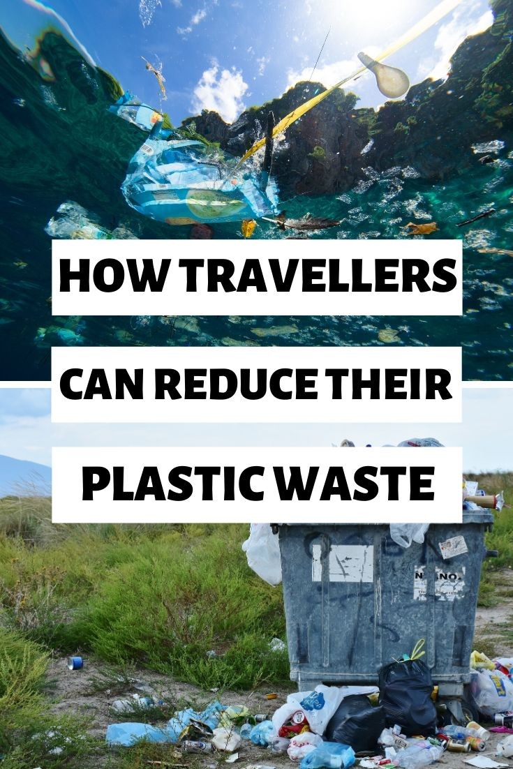 Reduce your plastic waste with these 6 easy swaps! Travel a little more sustainably by swapping some of your products for reusable plastic-free alternatives! | #plasticfree #travel #ecofriendly