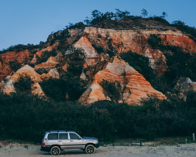 See the Pinnacles at sunset Fraser Island Itinerary