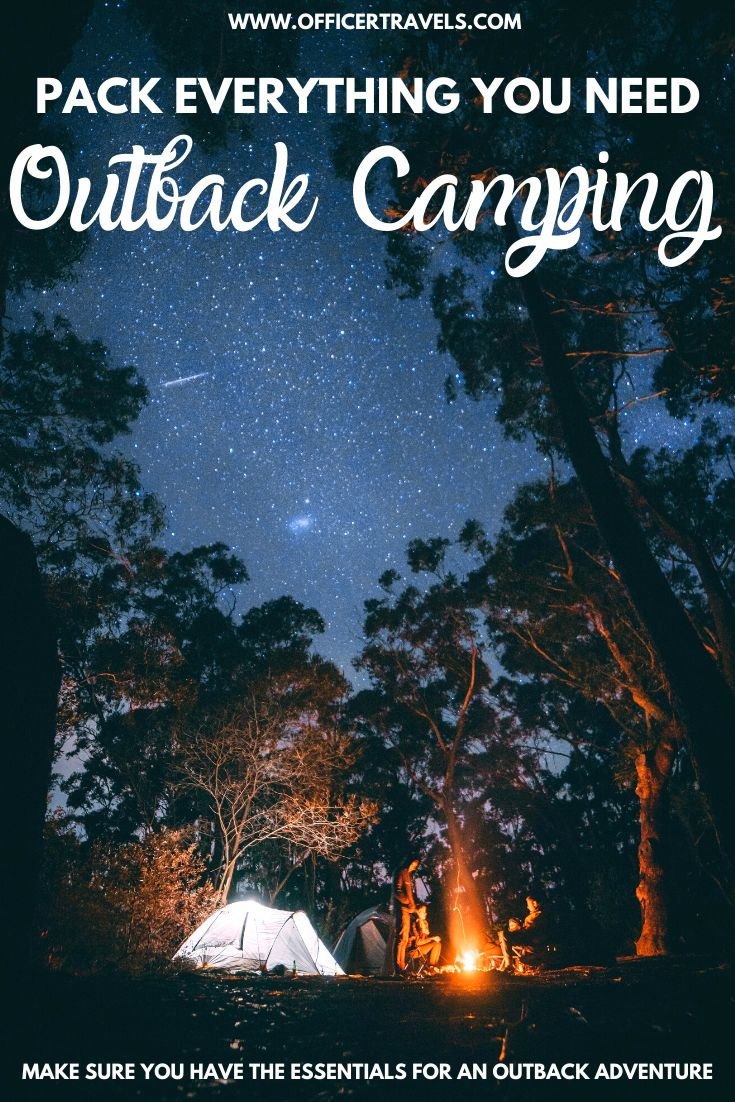 pinterest image for outback camping checklist