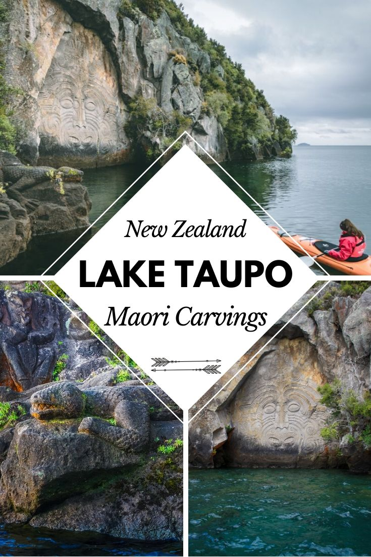 Kayak on Lake Taupo to find the hidden Maori Carvings. There's more to this Kayaking trip than you might think when you find a piece of art that is only accessible from the water! It's a true hidden gem in Taupo | #Kayaking #NewZealand #TravelGuide
