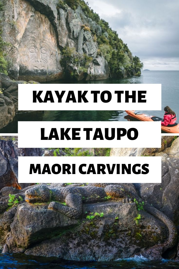 Looking for things to do in Lake Taupo? How about a visit to the Lake Taupo Maori Carvings - a piece of art only visible from the water! It's a real hidden gem thing to do in Lake Taupo | #NewZealand #NorthIsland #MustSeeNZ