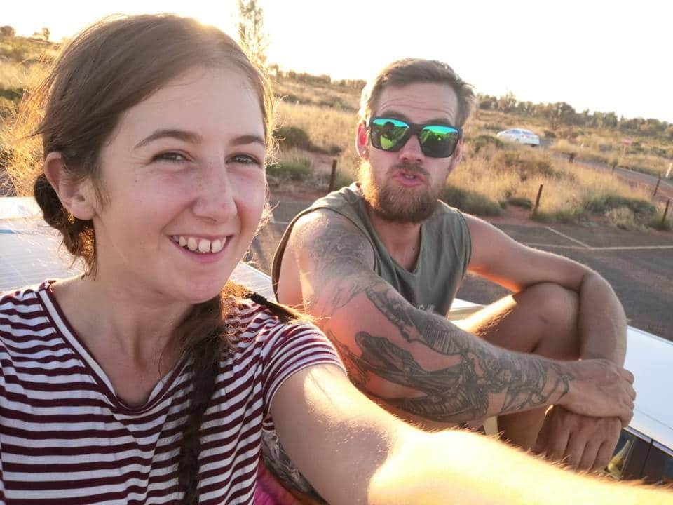 Dec and Leah at Uluru