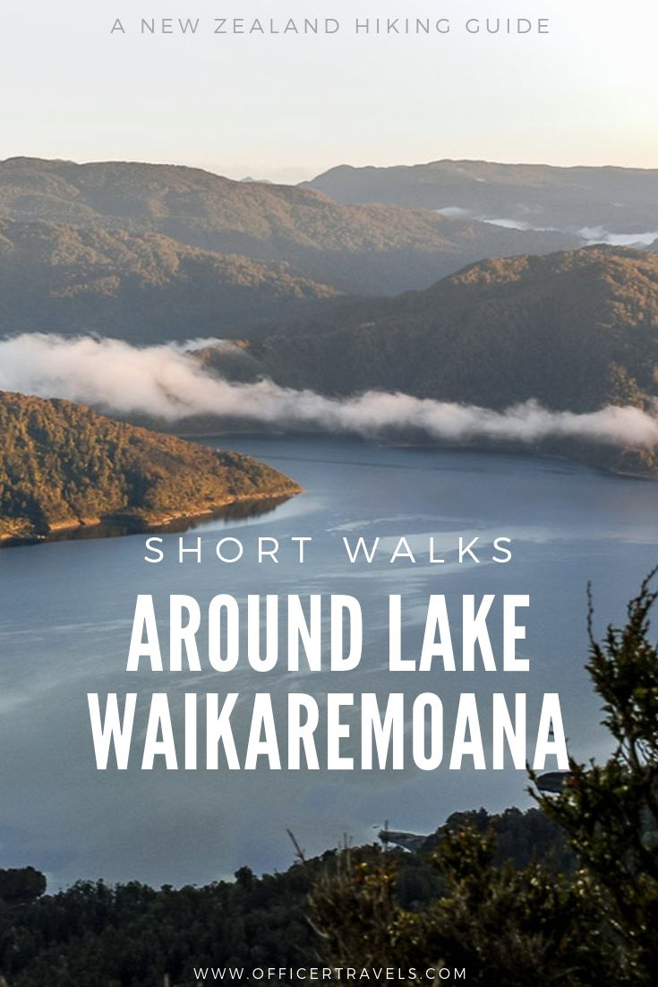A pinterest image for Lake Waikaremoana Walks