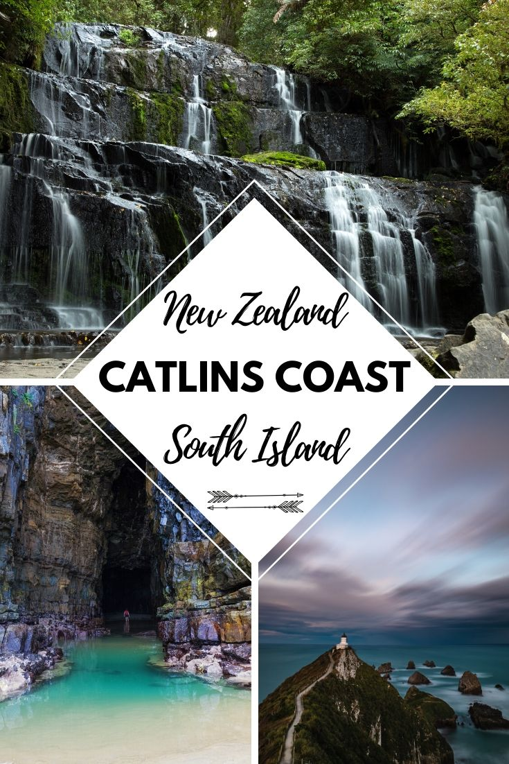The Catlins Coast is possibly one of the less talked about coast lines in New Zealand. We all know about the West Coast, but New Zealand's East Coast is just as beautiful. In this blog post we'll go over all the best there is to see in The Catlins | Things to see on New Zealand's South Island | #NewZealand #NZmustdo #NewZealandTravel #Travel #travelguide #SouthIsland #wildlife #waterfalls #coast #vacation