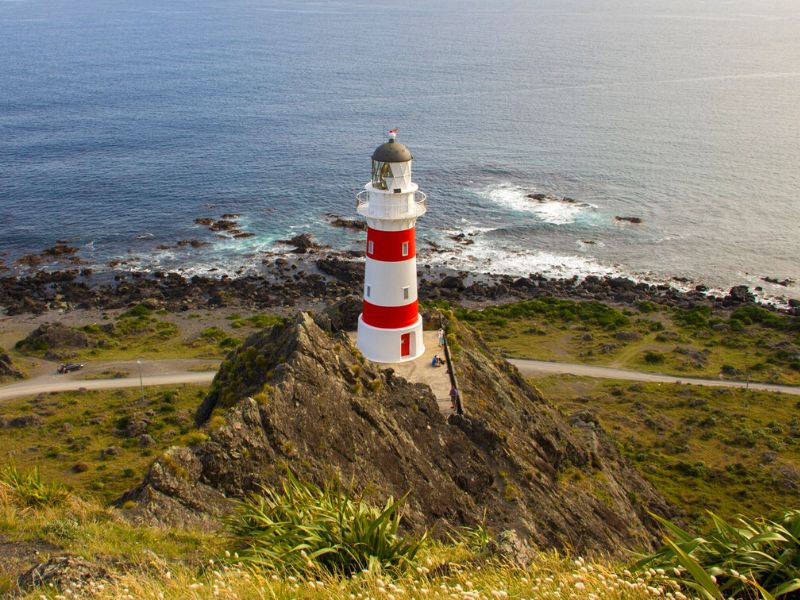 Cape Palliser Lighthouse from above