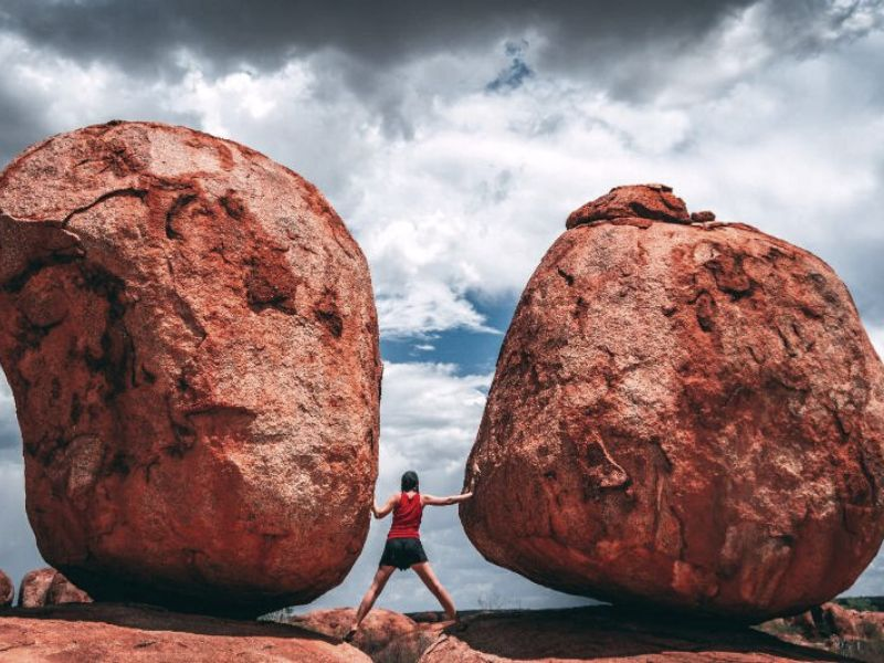 Me at the Devils Marbles