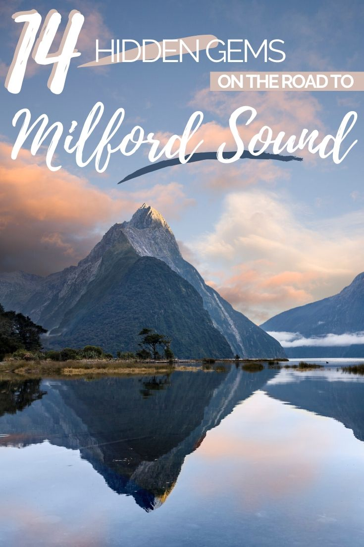The ultimate Milford Sound Road Trip Itinerary - 14 unmissable places to see along the way! Hidden waterfalls, alpine mirror lakes and the best lookouts possible - we'll tell you where to find Milford Sounds hidden gems! | Things to do in Milford Sound, Places to Stop on the Way to Milford Sound | #NewZealand #RoadTrip